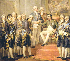 Napoleon conferring the Constitution in 1807
