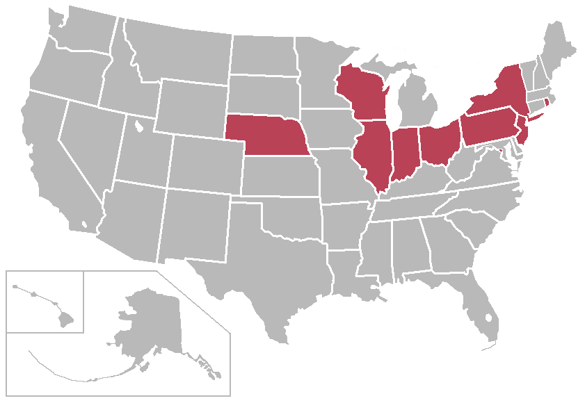 Big East Conference Wikipedia - Map-of-sports-teams-in-us