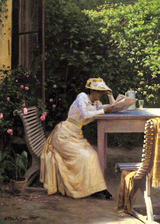 Niels-Frederik Schiottz-Jensen Reading lady.jpg