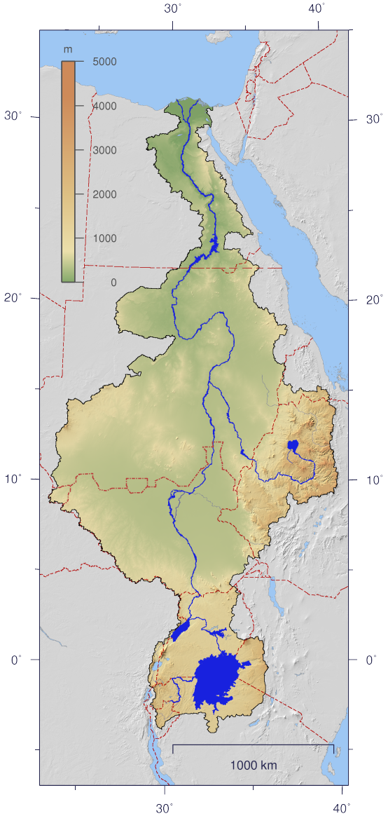 Nile Wikipedia - River nile world map