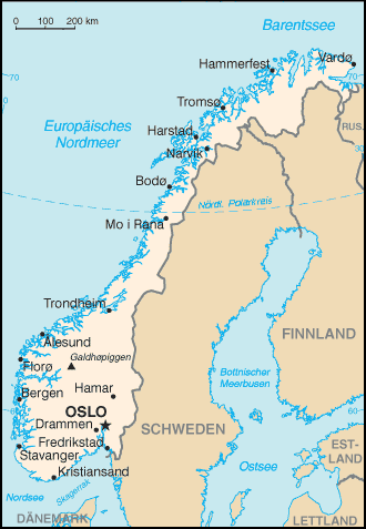 Karte Südnorwegen.Liste Der Städte In Norwegen Wikipedia