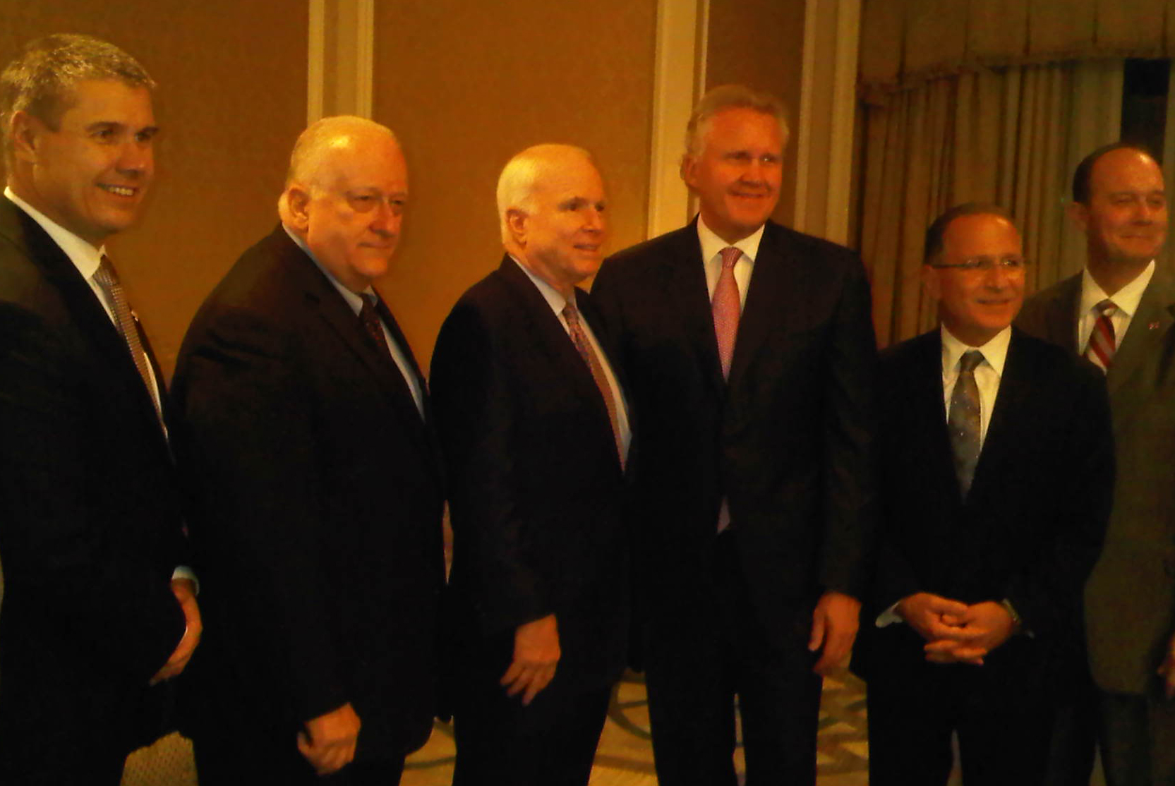 Ed Fuller with Cairo delegation led by Senators John McCain and John Kerry with representatives from Bechtel, Mobil, Coca-Cola, Dow Chemical and General Electric.  Image by Taylorbushman via Wikimedia Commons