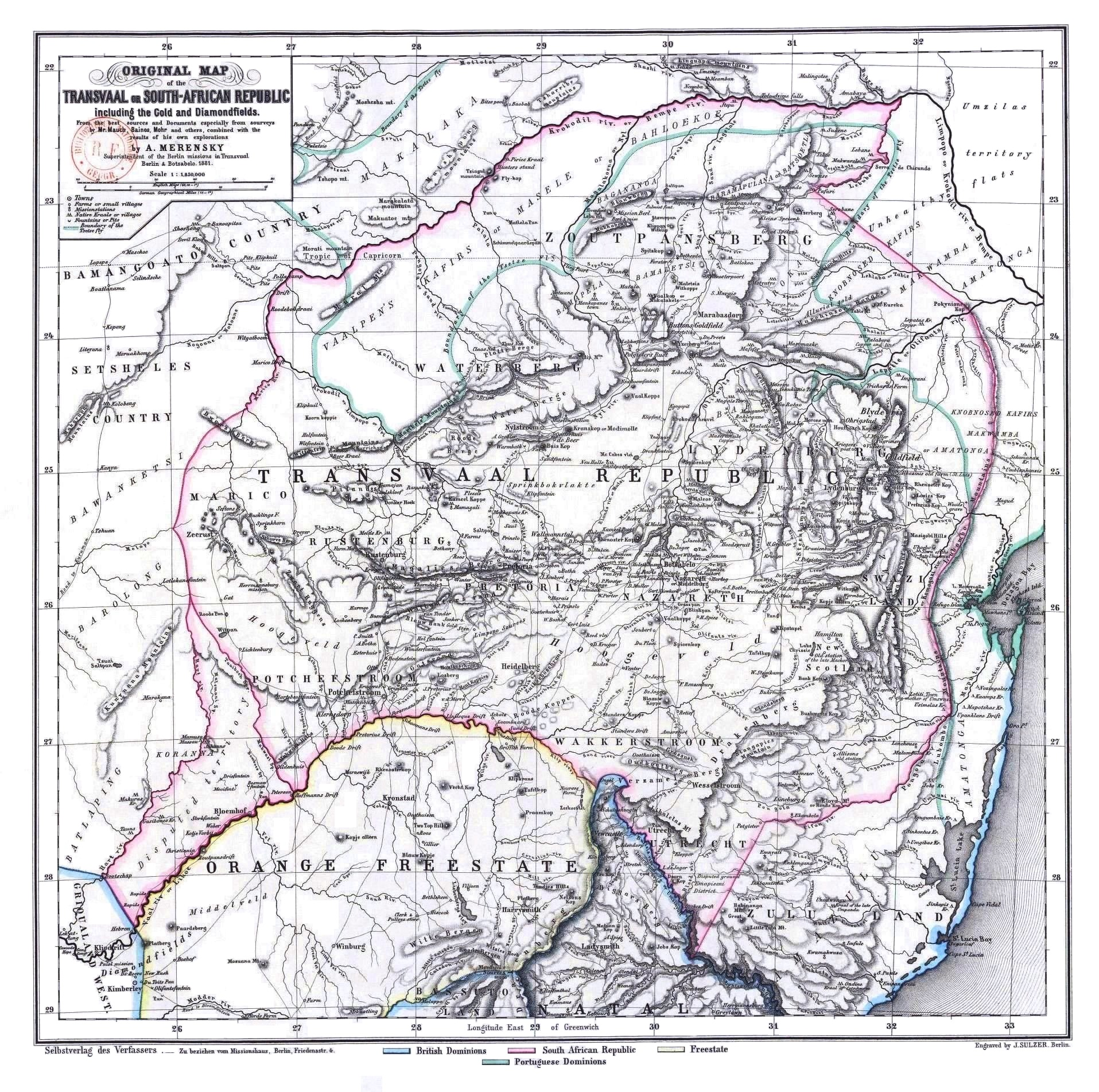 Gold In South Africa Map.File Original Map Of The Transvaal Or South African Republic