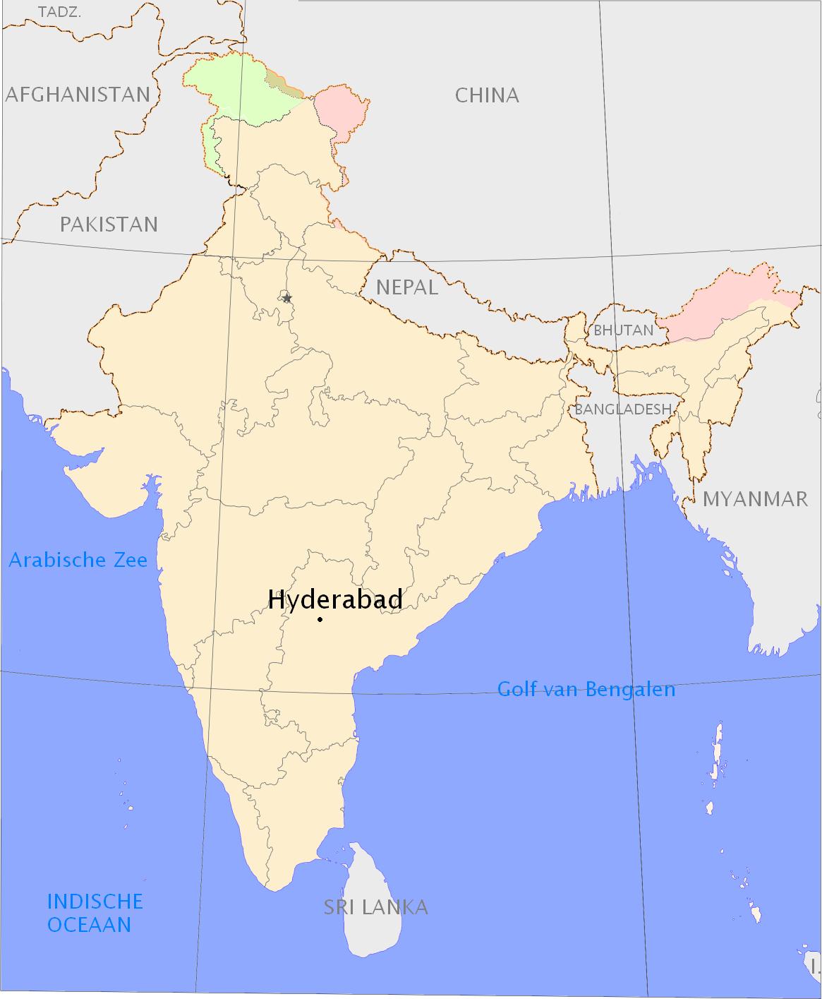 Hyderabad locator map