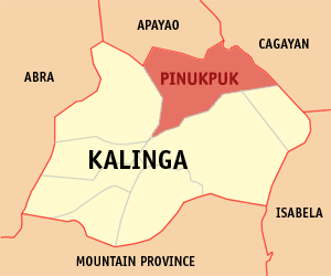 Map of Kalinga showing the location of Pinukpuk