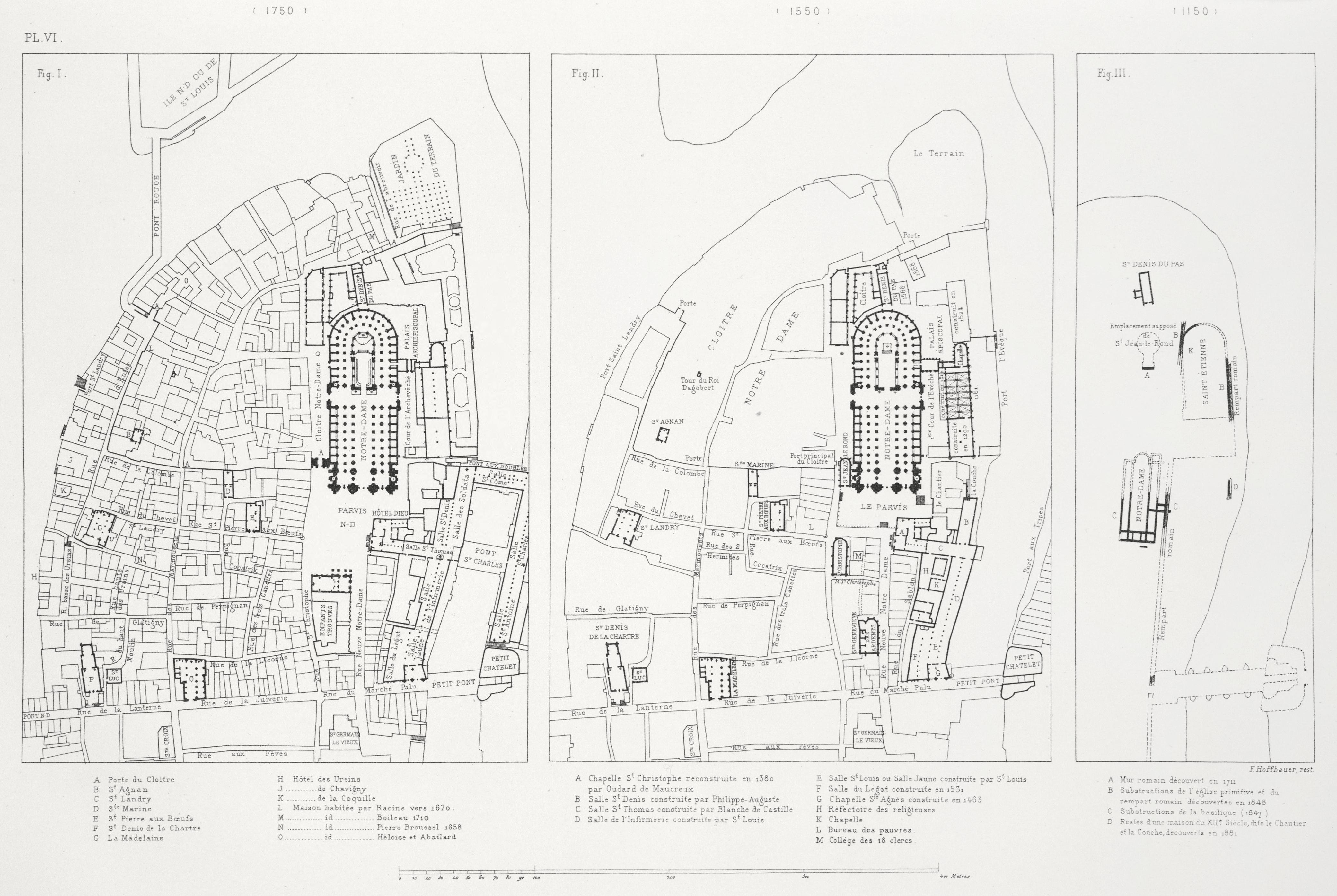 File Plan Du Quartier De Notre Dame 1150 1550 1750 Jpg
