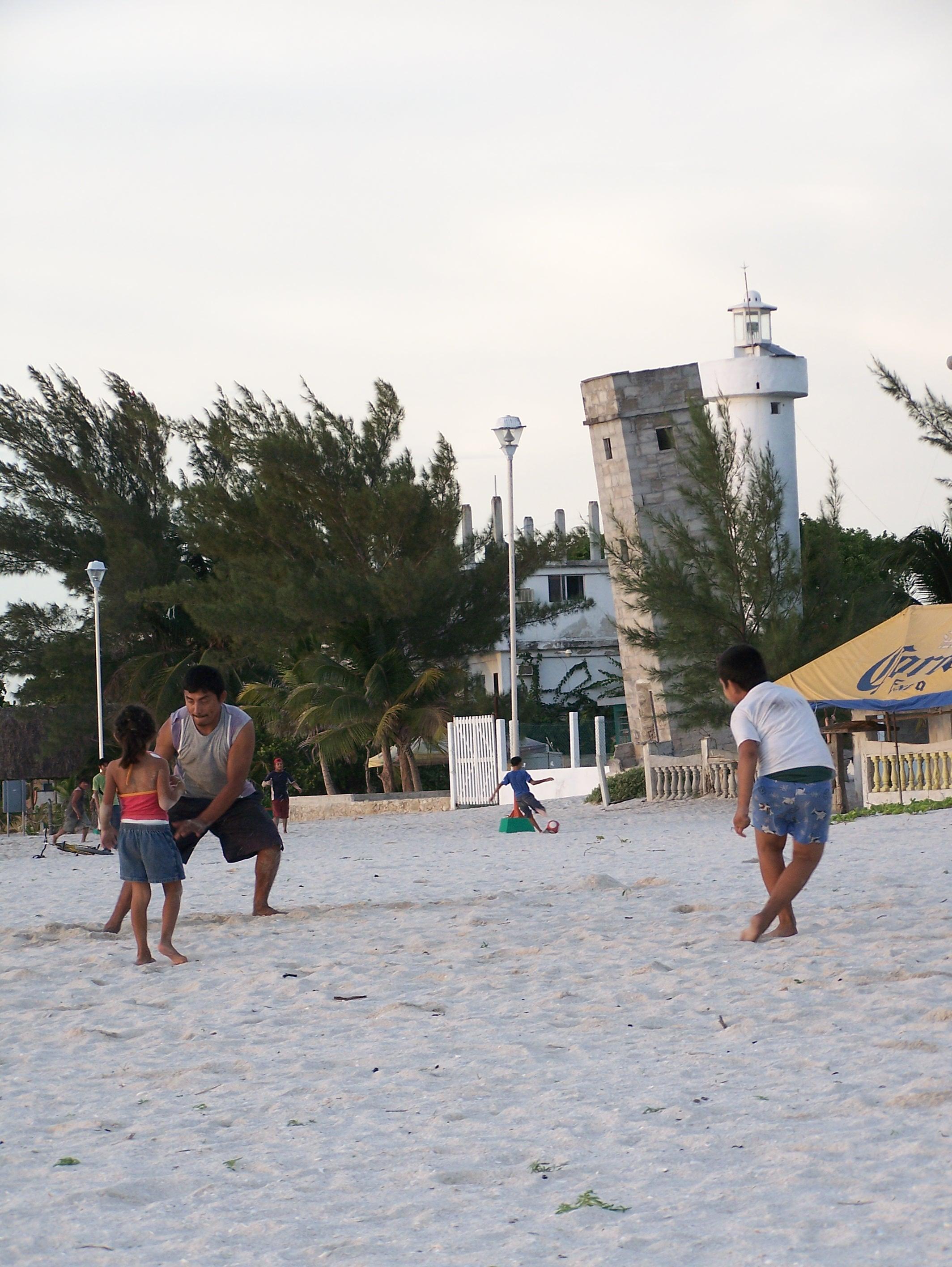 Enjoying the Beach in Celestun (The old Lighthouse)