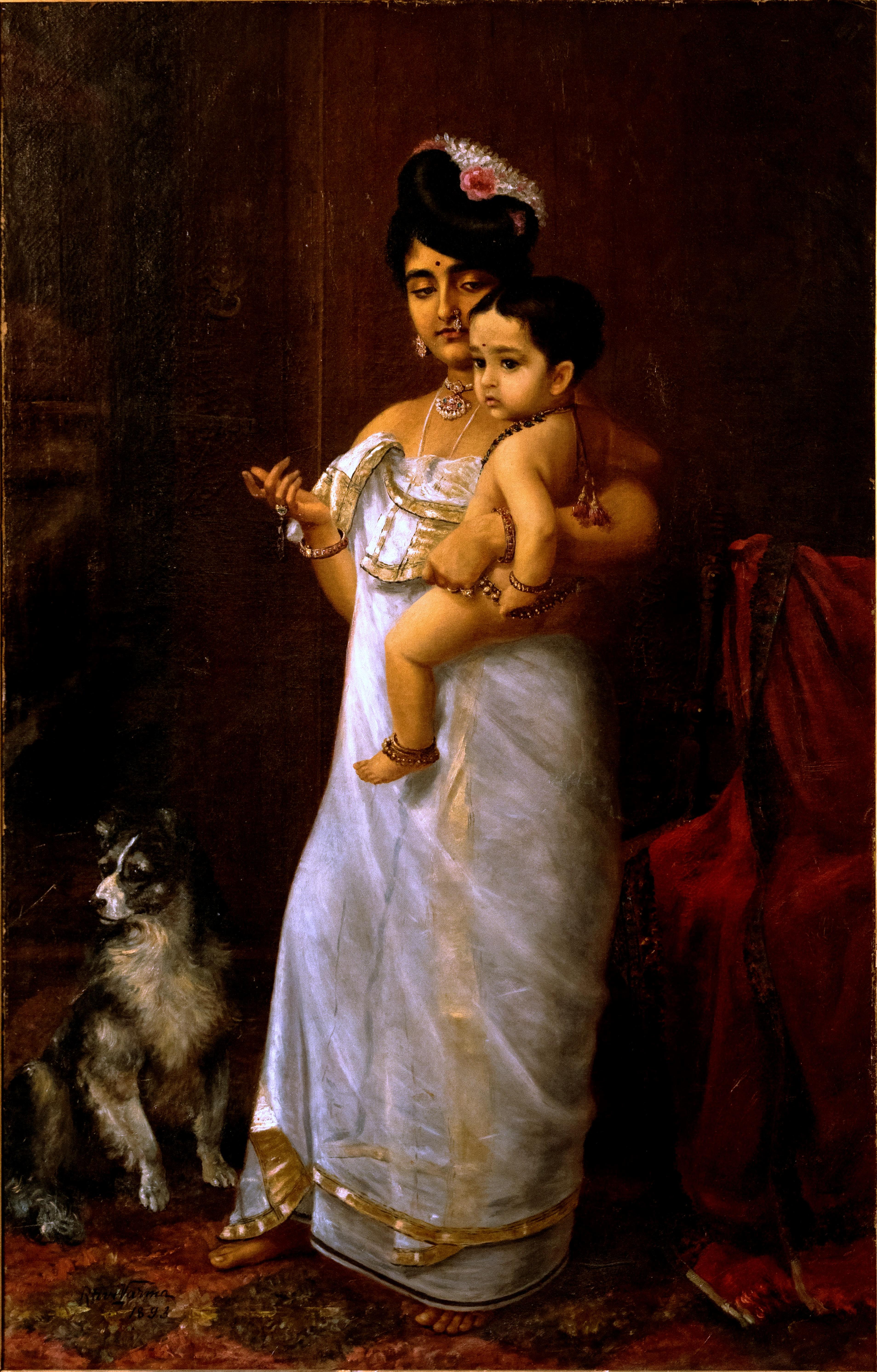 File:Raja Ravi Varma, There Comes Papa (1893).jpg ...