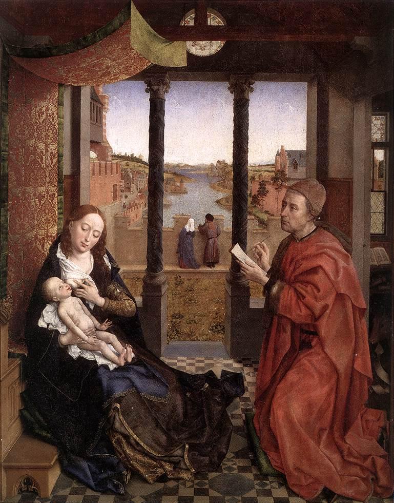 Agenda : Ca s'est passé en juin ! Rogier_van_der_Weyden_-_St_Luke_Drawing_a_Portrait_of_the_Madonna_-_WGA25581