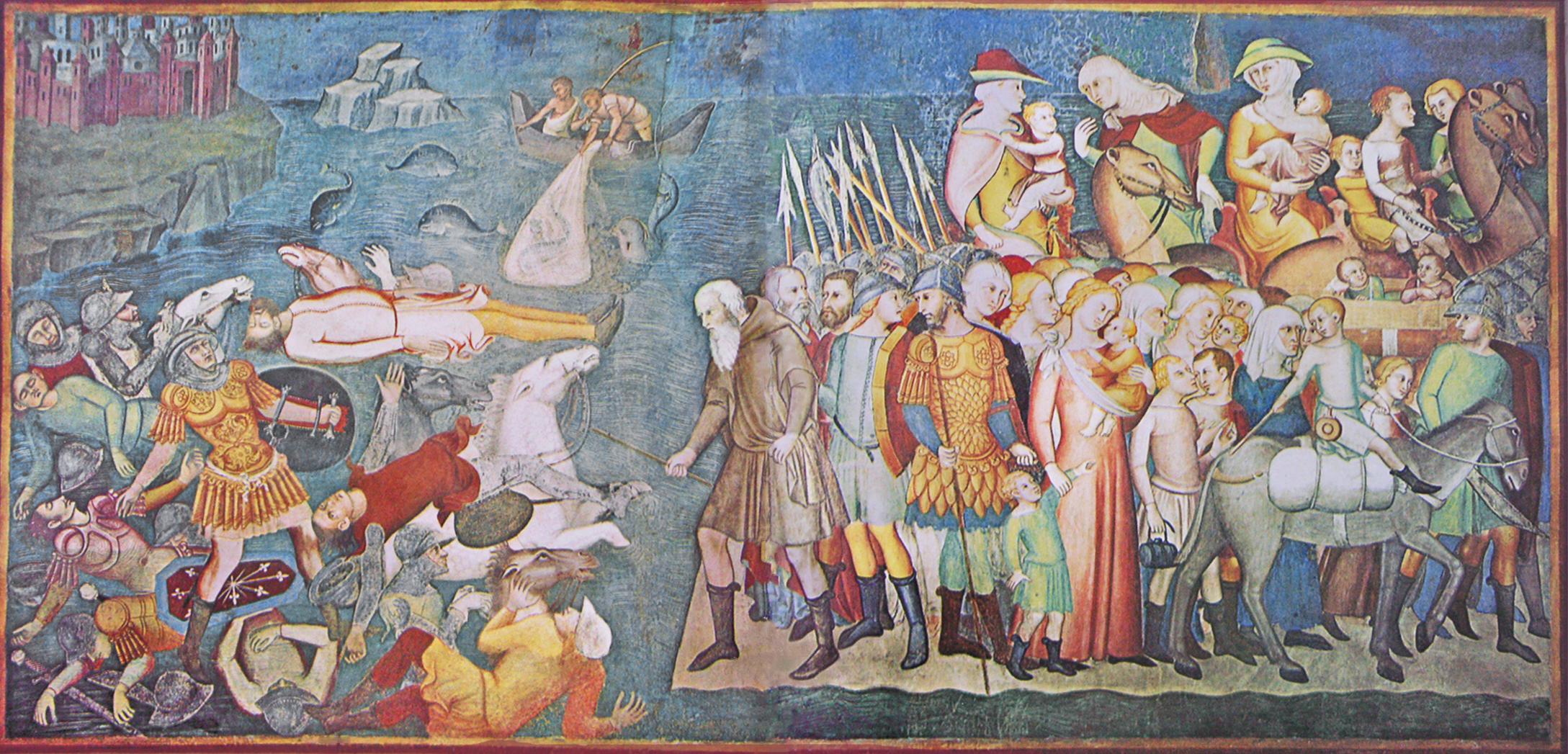 Hans Jordaens III (Antwerp c.1595-1643) , The Crossing of ... |The Red Sea Crossing Heston