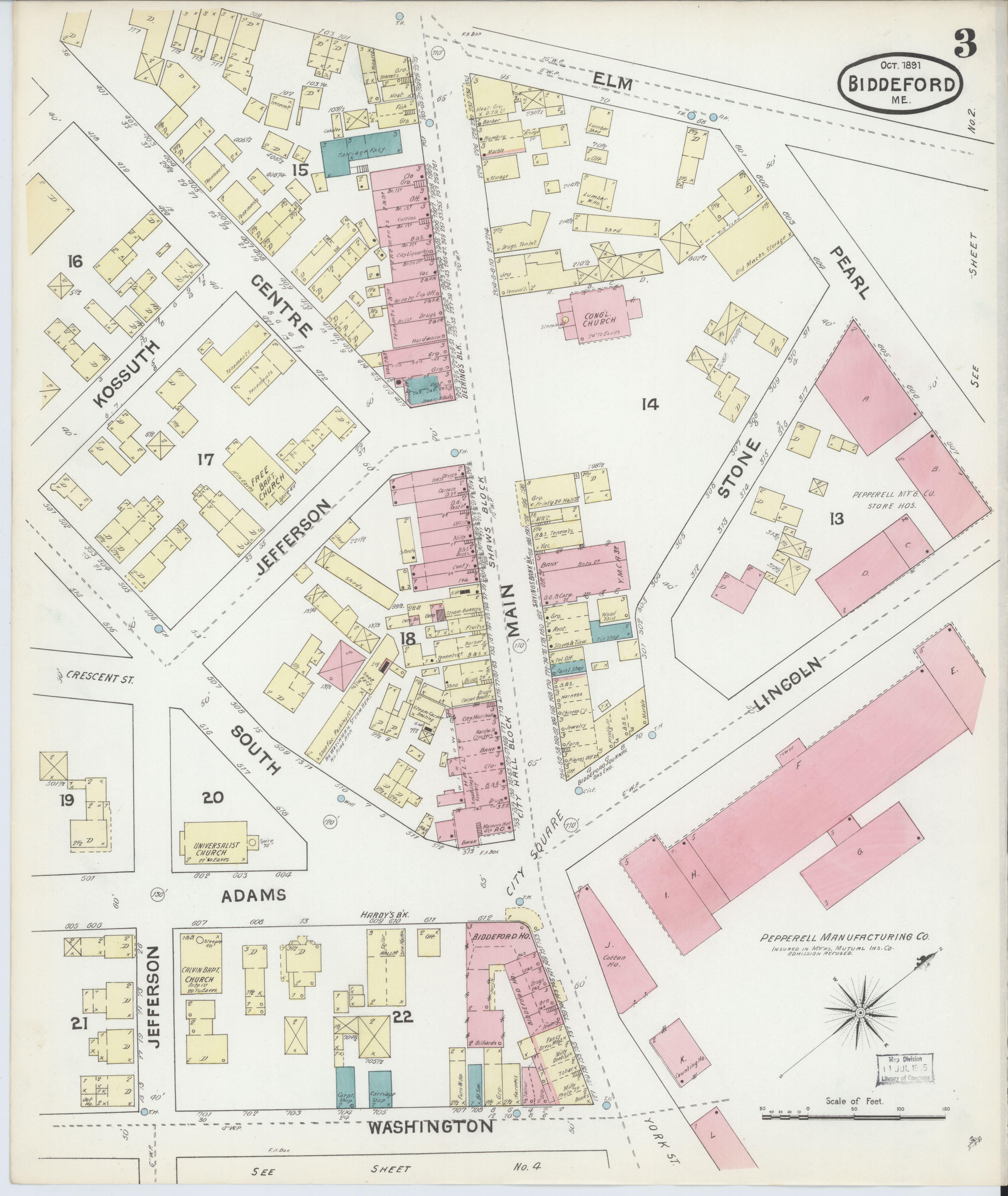 File Sanborn Fire Insurance Map From Biddeford York County Maine Loc Sanborn03433 002 3 Jpg Wikimedia Commons