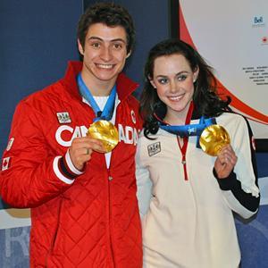 Canadian ice dancers Scott Moir and Tessa Virt...