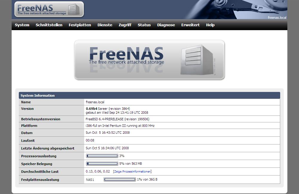 4a196b0973 File Screenshot freenas v.0.69b4.jpg - Wikimedia Commons