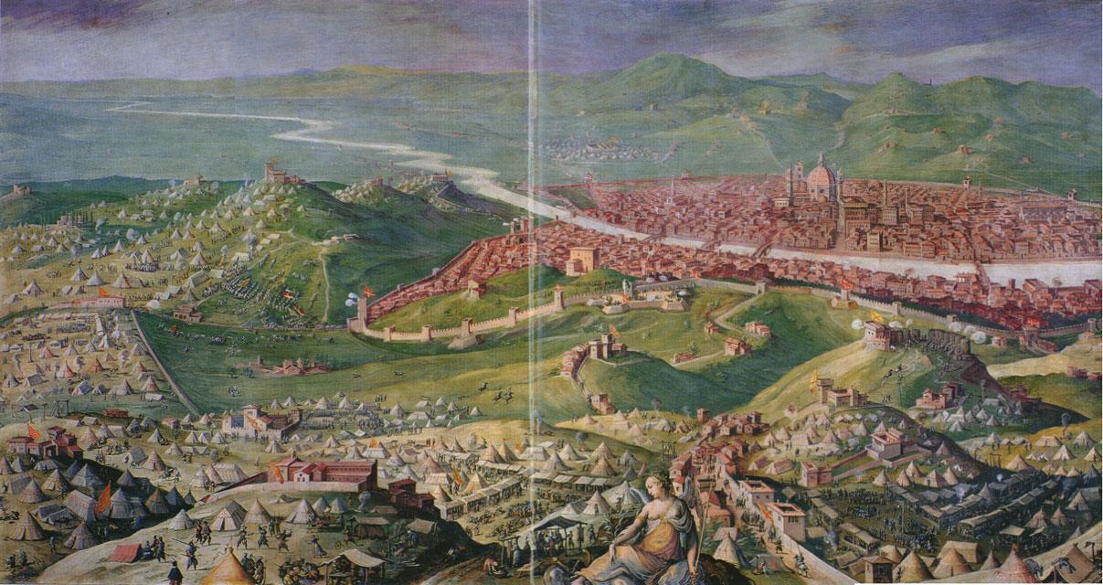 L'assedio di Firenze, affresco in Palazzo Vecchio