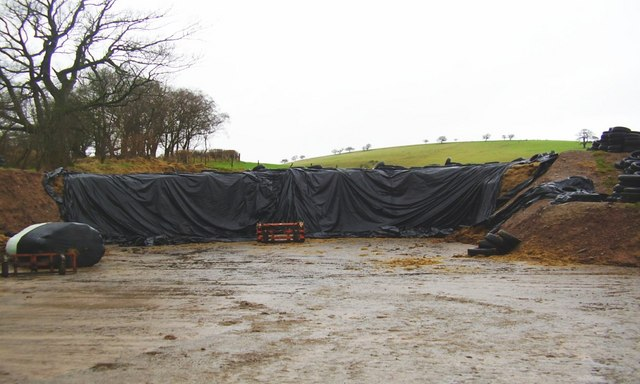 File Silage Pit For A Big Farm Geograph Org Uk 644006