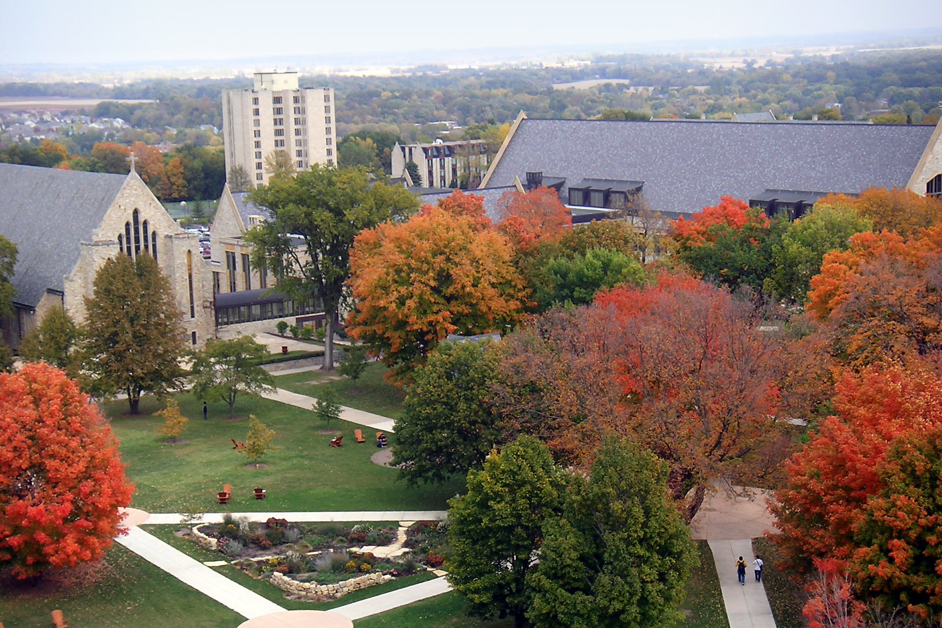Campus of St. Olaf College, at Northfield, Minnesota, United States. (Credit: Daniel Edwins)