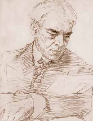 Konstantin Stanislavski a portrait by Valentin...
