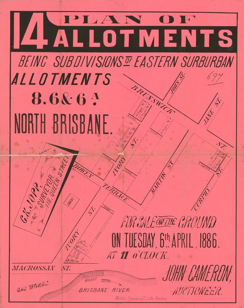 FileStateLibQld 2 263012 Estate map of Plan 14 allotmentments