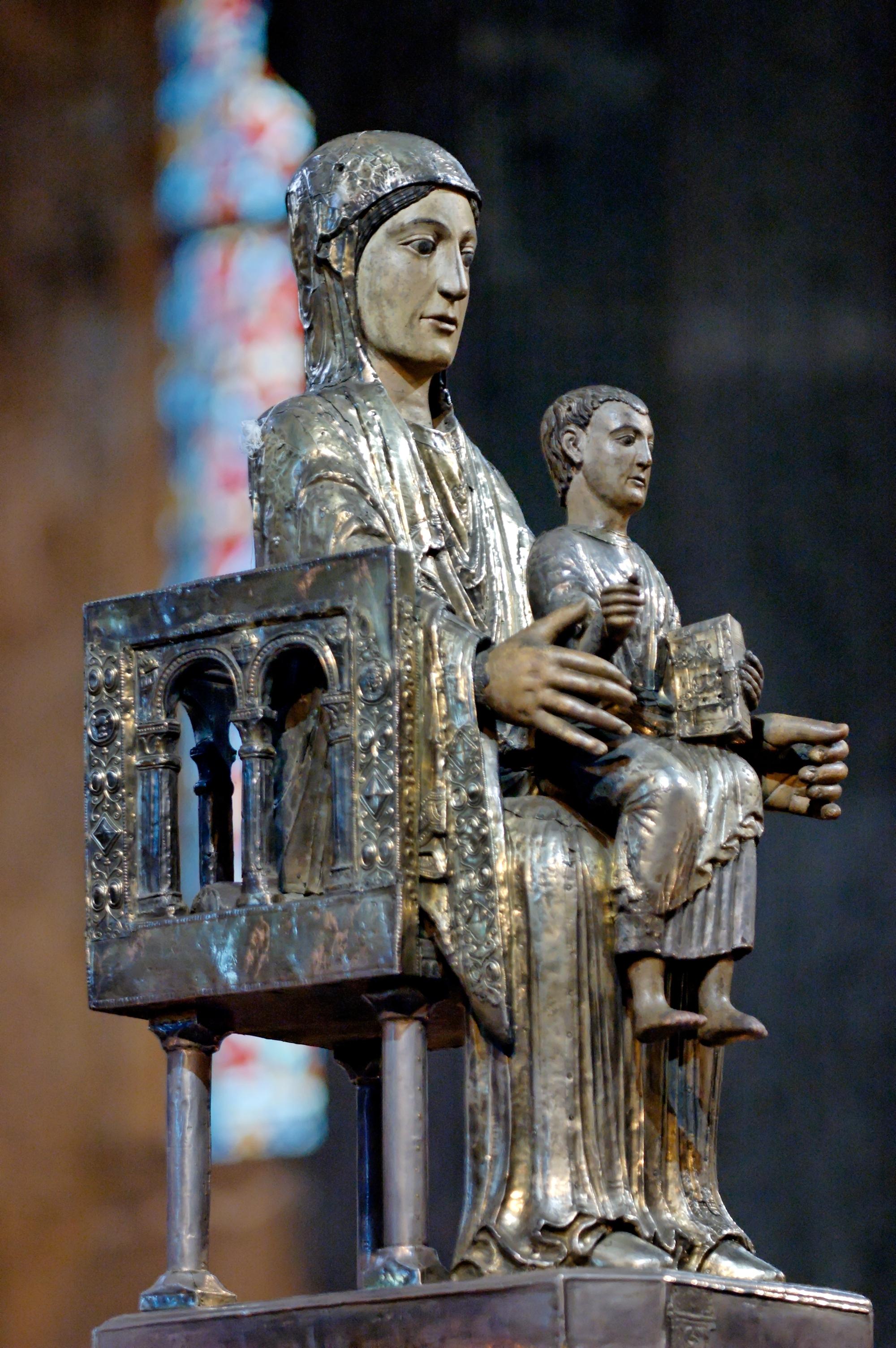 Seat of Wisdom Statue Virgin as Seat of Wisdom