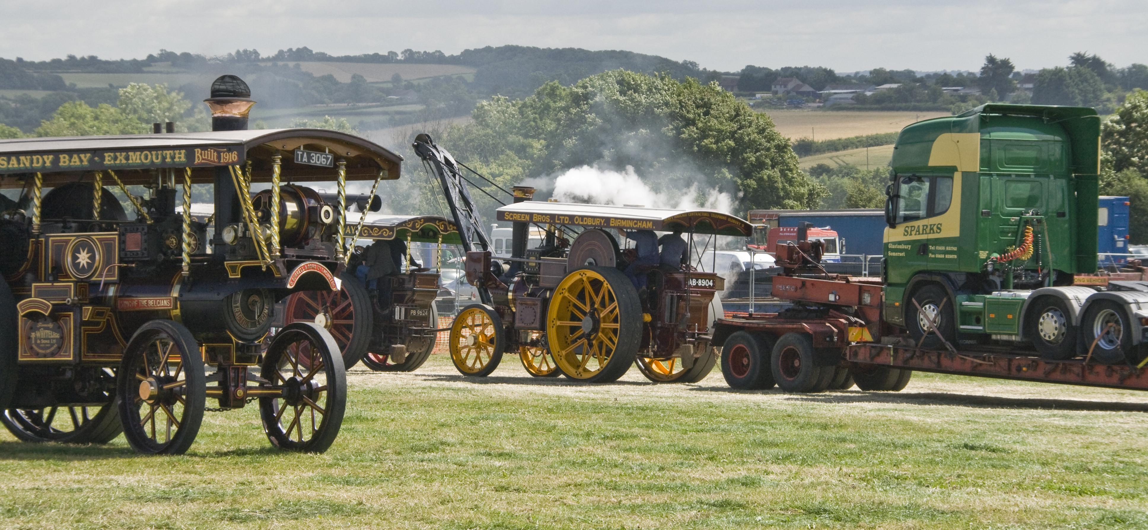 Steam engine rally