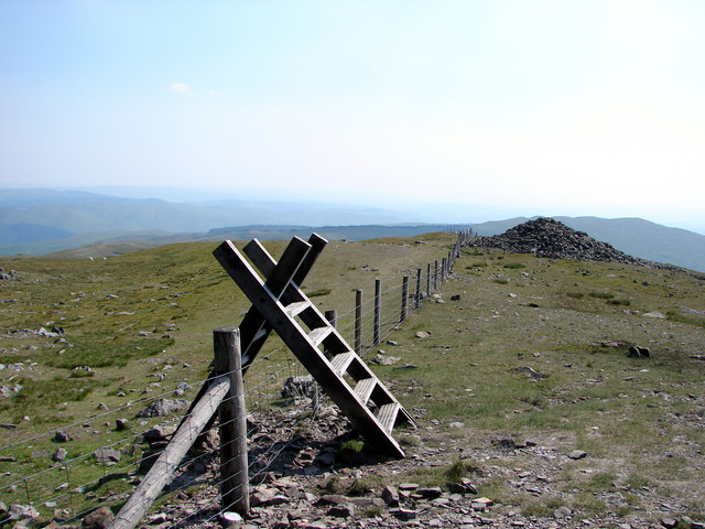 Stile near the summit of Plynlimon - geograph.org.uk - 245575