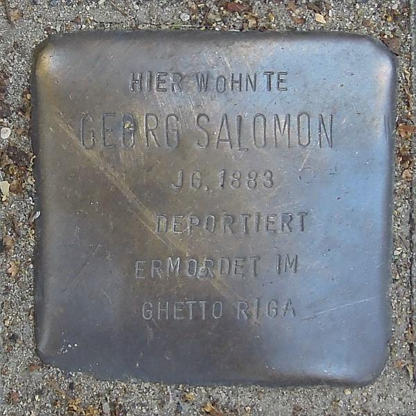 Stolperstein für Georg Salomon