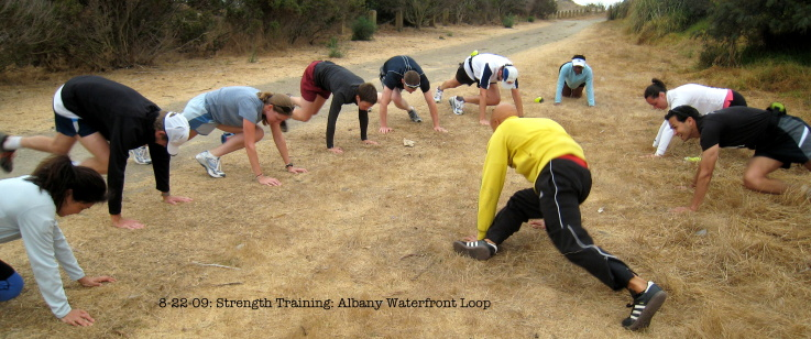 Strength Training During Albany Waterfront Loop Run