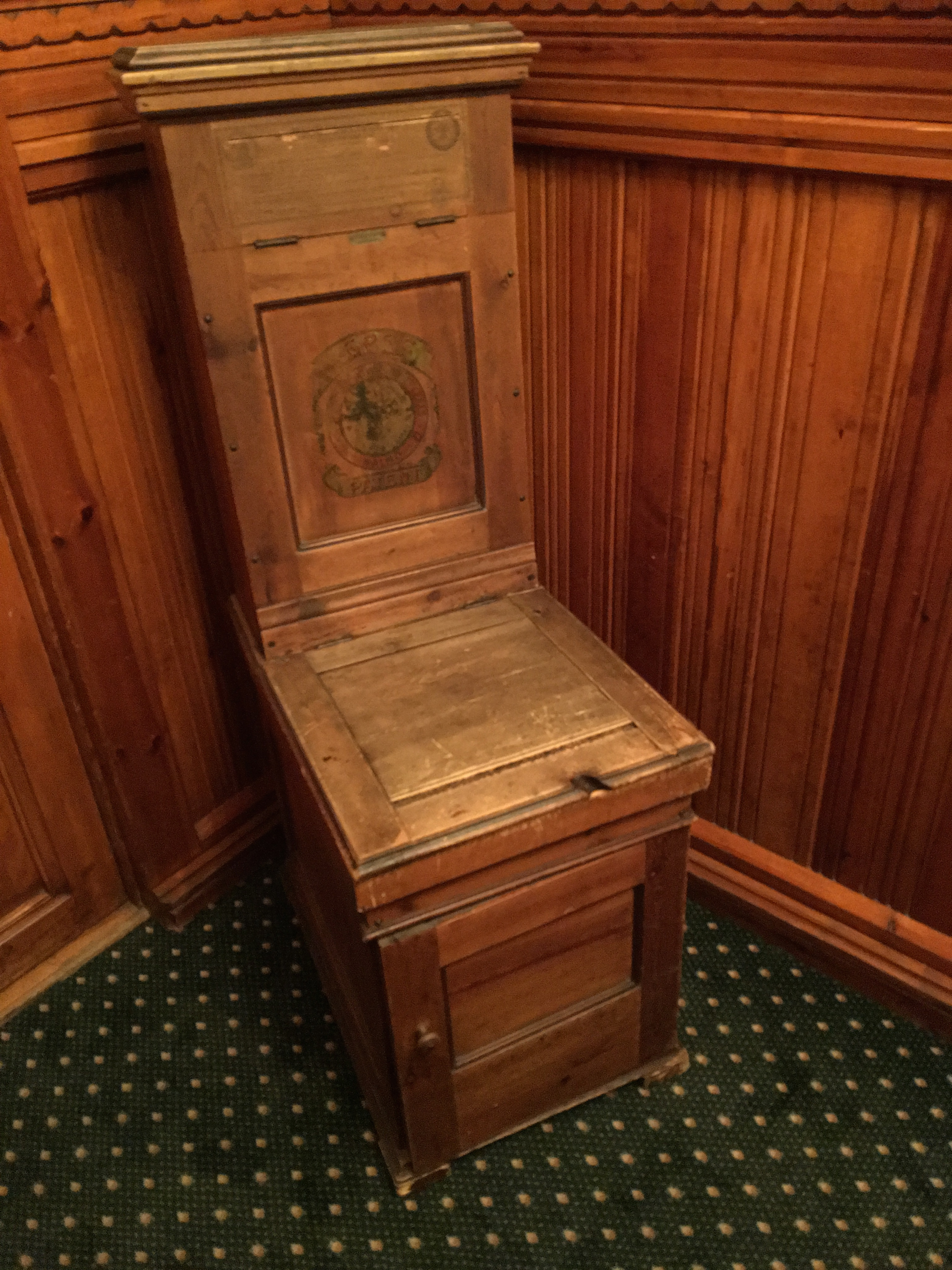Incredible File Swedish Toilet Chair 1890S Historical Fleischers Hotel Evergreenethics Interior Chair Design Evergreenethicsorg