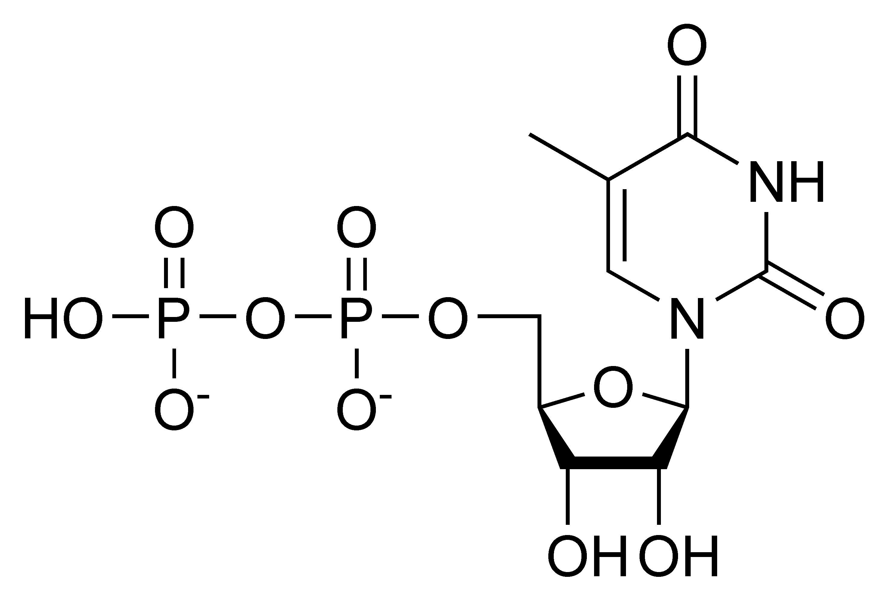 Chemical structure of thymidine diphosphate