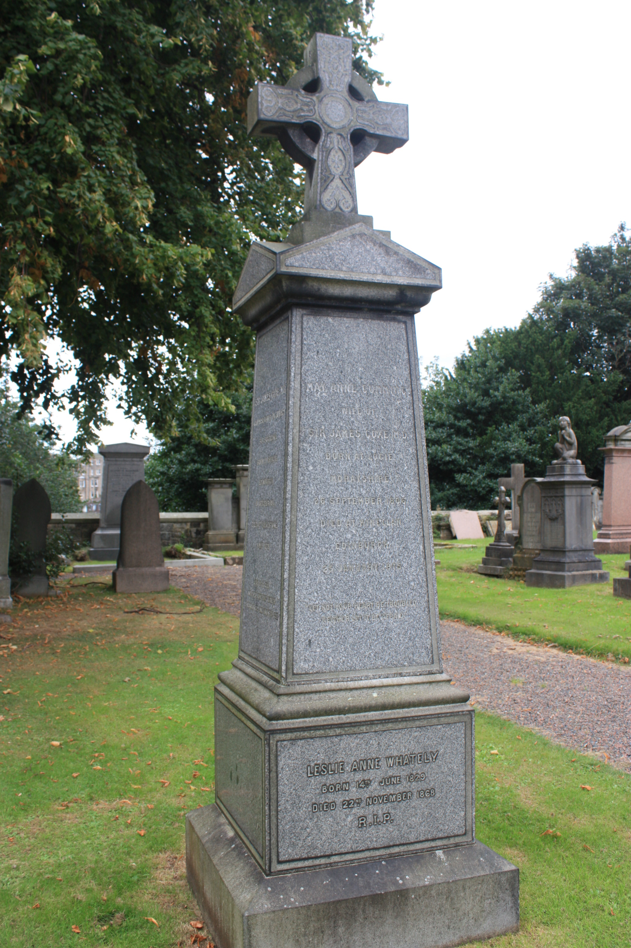 File:The grave of Sir James Coxe, Dean Cemetery, Edinburgh jpg