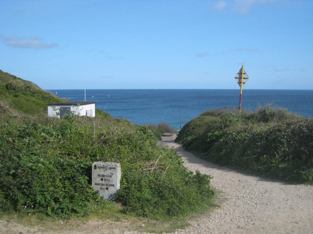 The path to the beach at Porthcurno - geograph.org.uk - 1298346