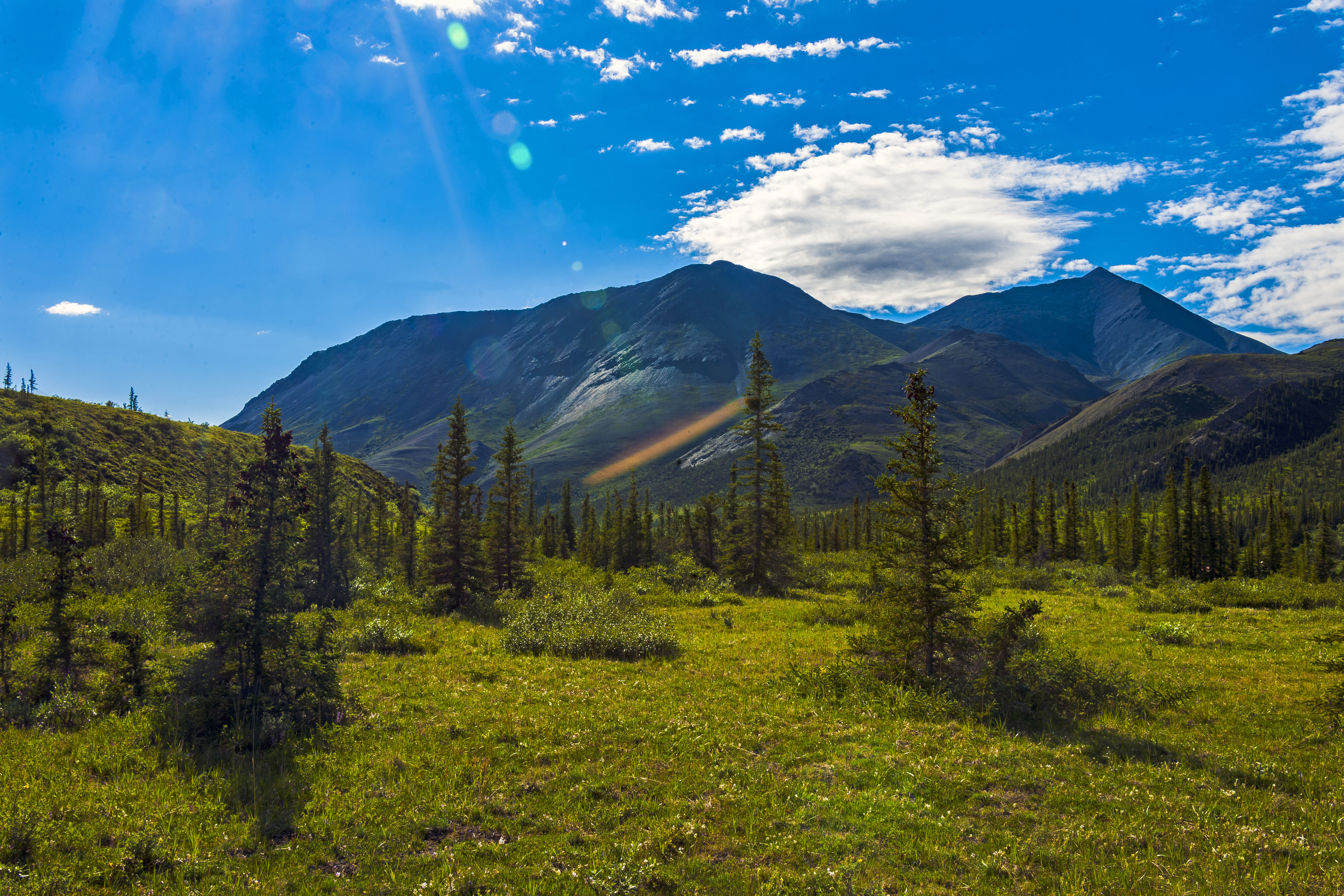 File Tundra Landscape With Clouds Trees Mountains And Lens