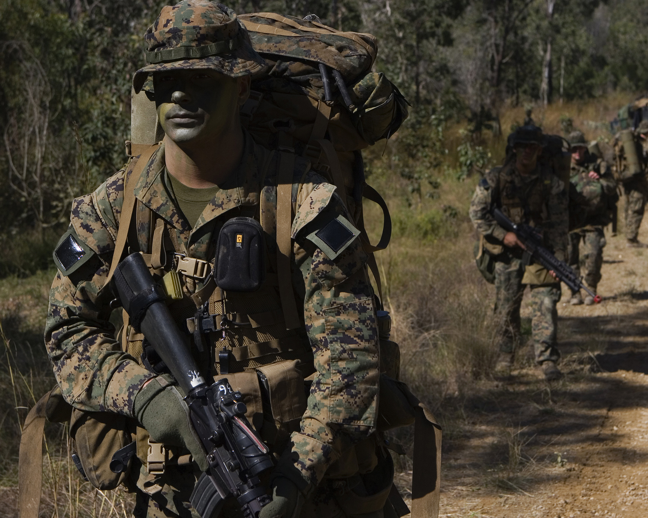 US Marines training at Shoalwater Bay in the 2007 Talisman-Sabre exercises