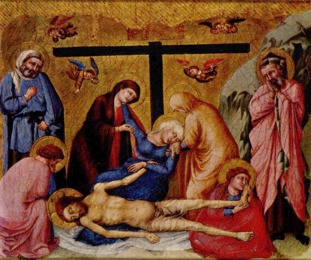 Lamentation Wall Painting Saint Pantaleimon Painter