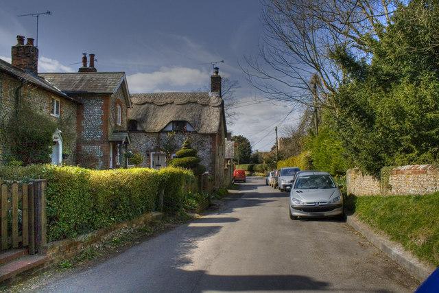 View Down Church Street - Ropley - geograph.org.uk - 1219704.jpg