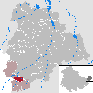 Vollmershain Place in Thuringia, Germany