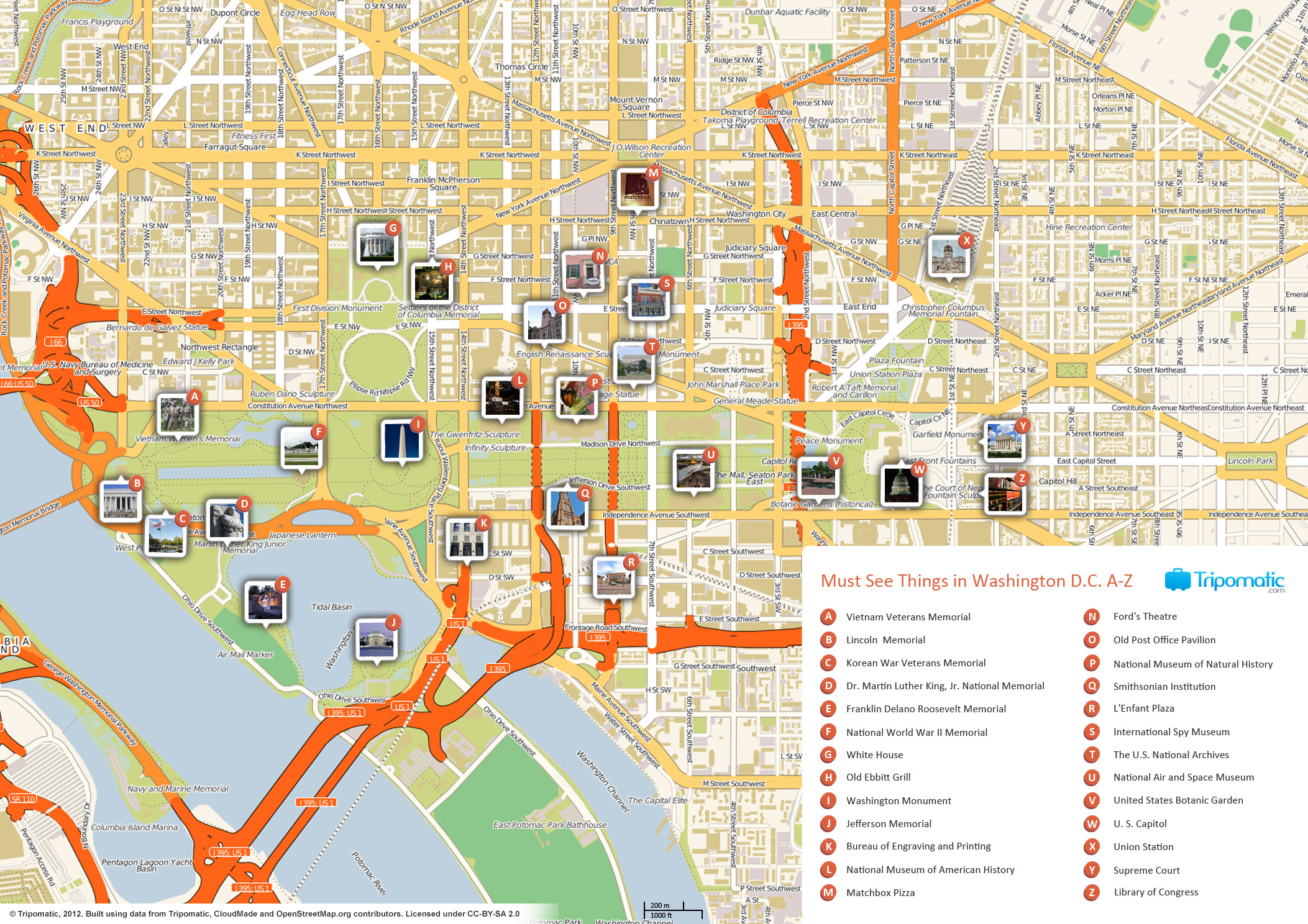 {FileWashington DC printable tourist attractions mapjpg – Washington Tourist Attractions Map