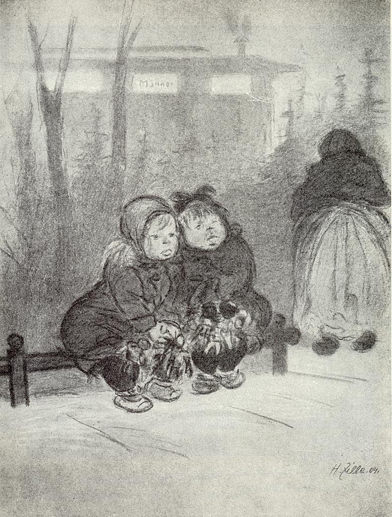Heinrich Zille - Berliner Weihnachtsmarkt 1904 - Quelle: Wikimedia