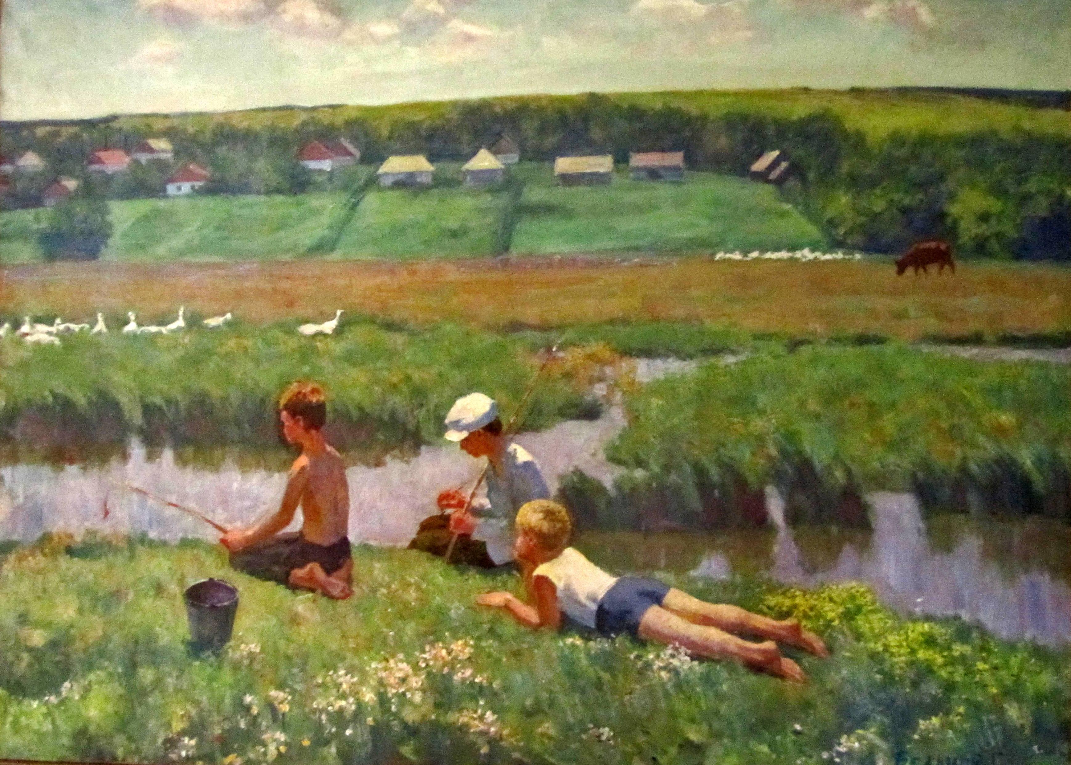 """File:""""Воспоминание о детстве (на реке Чичиклея)"""".JPG ..."""