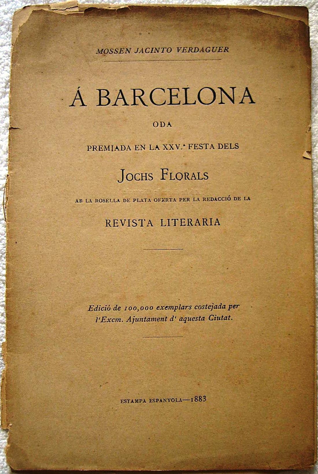 1ª edición de Oda a Barcelona.