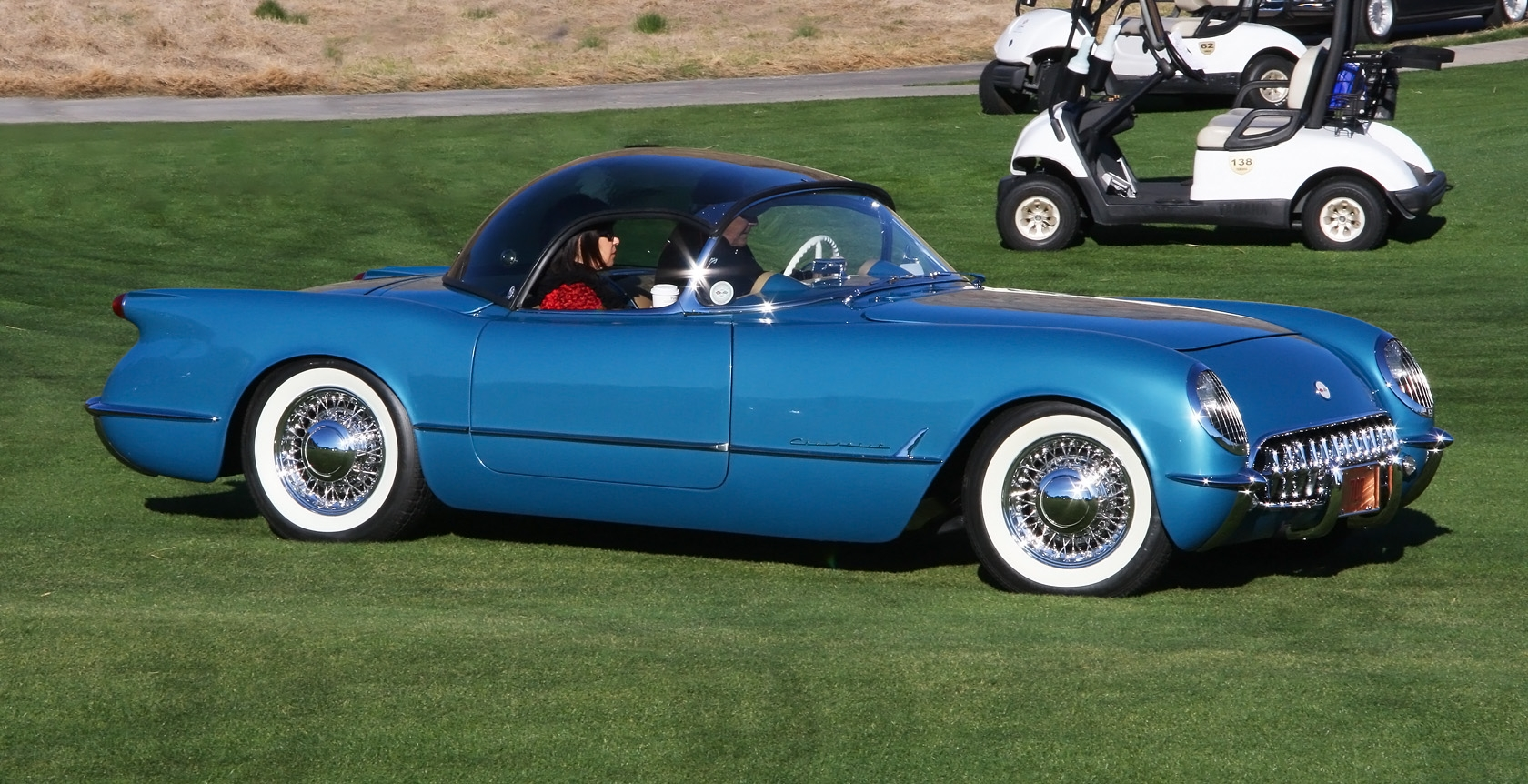 File 1954 Chevrolet Corvette Bubble Top Blue Fvr2 Jpg