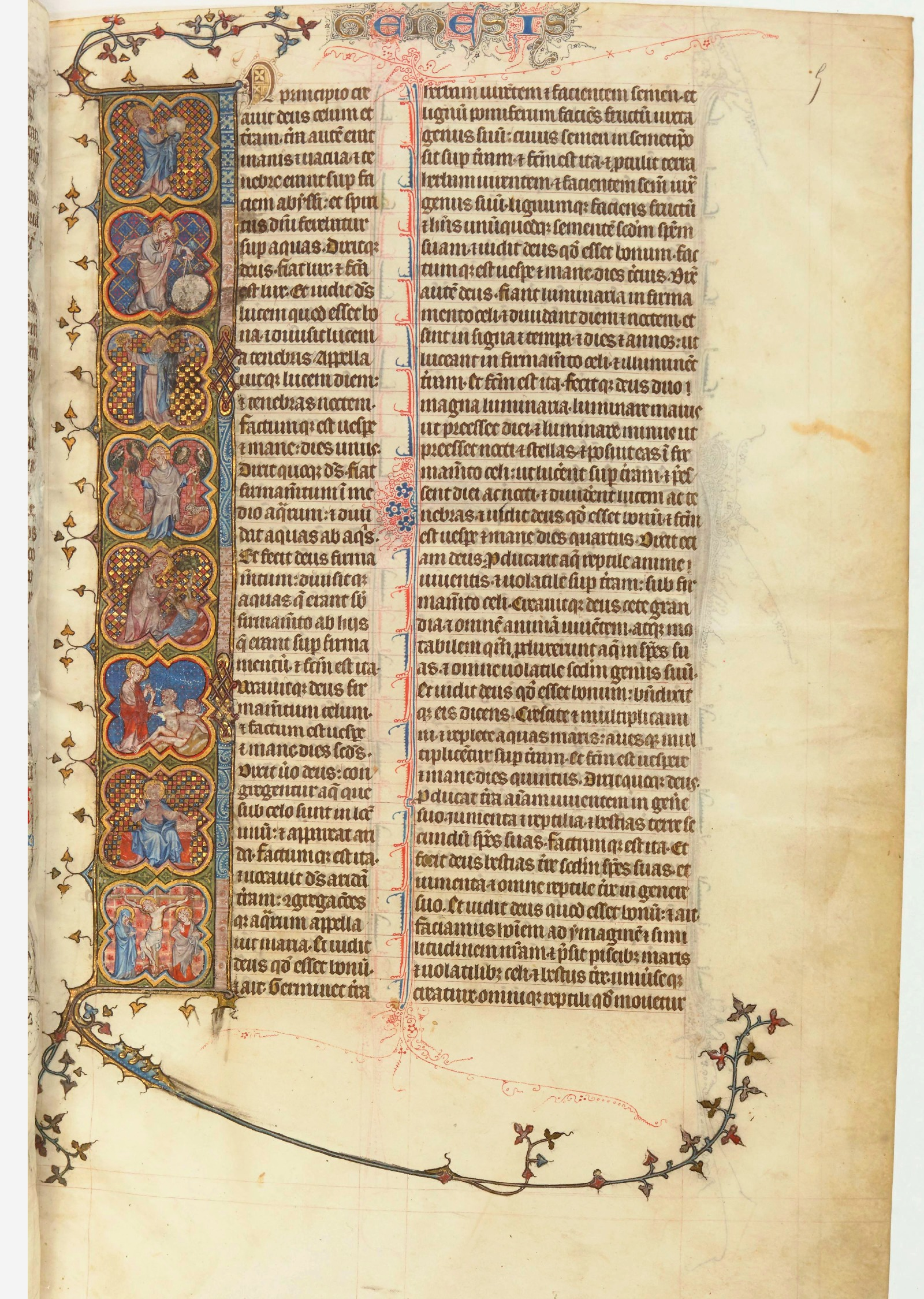 File:3 Jean Pucelle. The Robert de Billing Bible. 1327 Bibliotheque  Nationale,