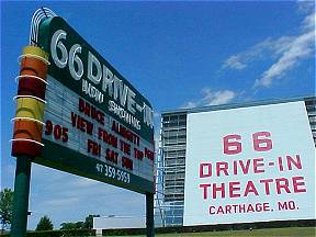 English: Carthage, MO Route 66 Drive-In Movie ...
