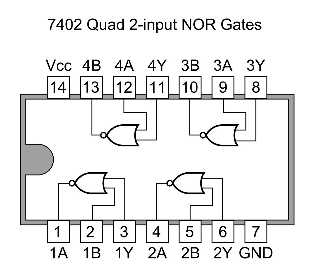 U30d5 U30a1 U30a4 U30eb 7402 Quad 2-input Nor Gates Png Images