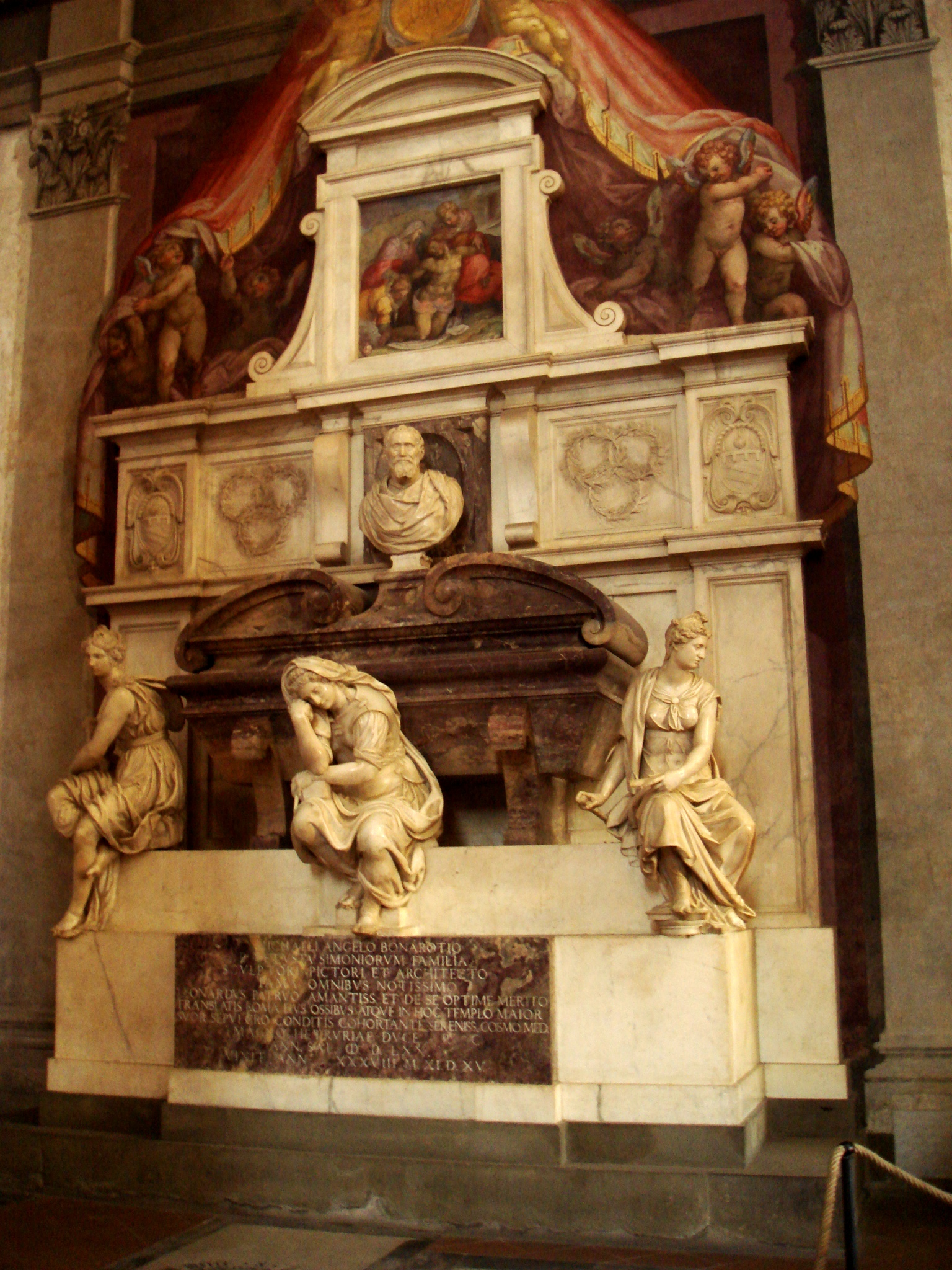 9903 - Firenze - Santa Croce - Tomba di Michelangelo - Foto Giovanni Dall'Orto, 28-Oct-2007.jpg