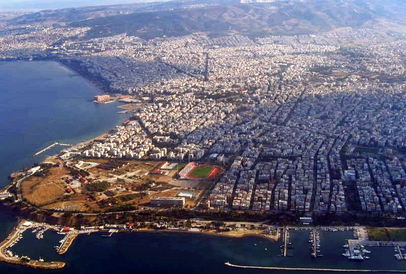 Thessaloniki Greece  city photos gallery : Aerial view of Kalamaria, Greece Wikimedia Commons