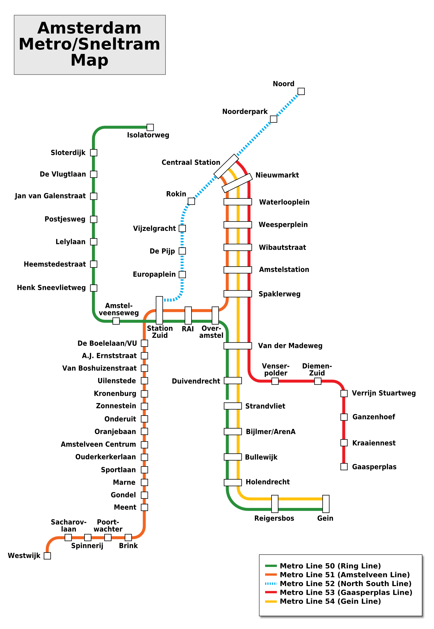 File Amsterdam Metro Map Png Wikimedia Commons
