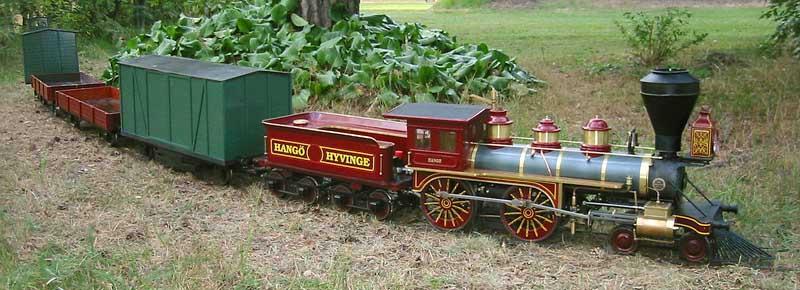 Ride On Train For Backyard : Back+Yard+Trains+Ride+On Description Backyard railroad featuring Hanko