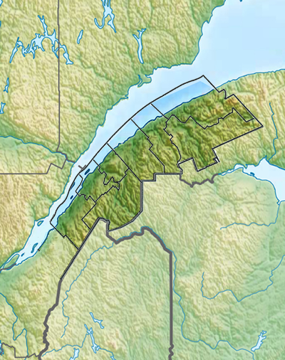 Carte du Bas-Saint-Laurent