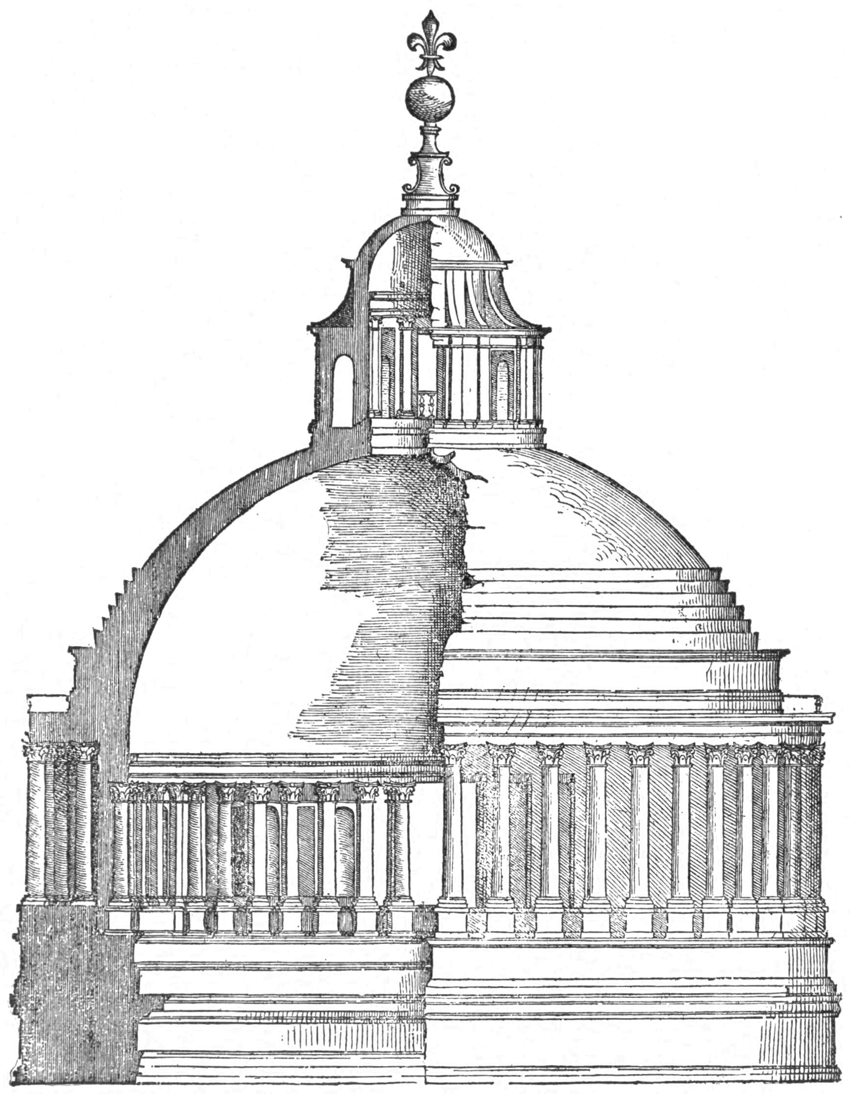 File Bramante S Dome For St Peter S From Serlio
